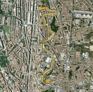 The route of the walk through Lisbon
